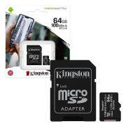 CARTAO DE MEMÓRIA MICRO SD 64GB CLASSE 10 SDCS2/64GB SDXC 100MB/S KINGSTON CANVAS SELECT PLUS ORIGINAL