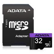 CARTAO DE MEMORIA MICRO SD ADATA CLASSE 10 32GB C/ ADAPTADOR