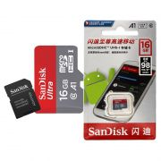 Cartão de Memória Micro SD Sandisk 16GB 98Mb/s Original Escrita Chinesa