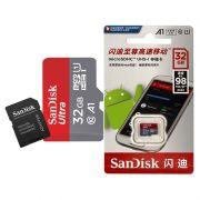Cartão de Memória Micro SD Sandisk 32GB 98Mb/s Original Escrita Chinesa