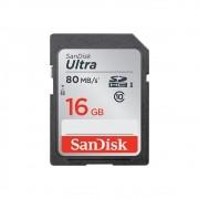 Cartão de Memória SD 16gb 80MB/s Sandisk Ultra SDHC Original