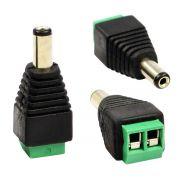 Conector Plug de Alimentação P4 Macho com Borne Para Câmera Cftv ou Fontes