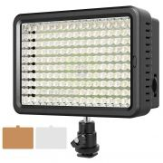 Iluminador ou Painel Led c/ 160 leds Fotografia e Vídeo Com Dimmer Fotoparts