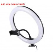 Iluminador Ring Light Foto Video 30cm 12 polegadas 162 Leds Com Dimmer 3200K a 5600K