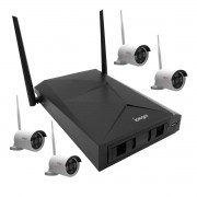 Kit 4 Câmeras de Segurança IP Sem Fio 1080p + DVR IP Sem Fio Ípega KP-CA149