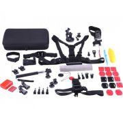 Kit com 49 Acessórios para GoPro ou Câmeras de Ação Tomate MT-1102