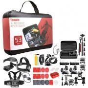 Kit com 53 Acessórios para GoPro ou Câmeras de Ação Tomate MT-1100