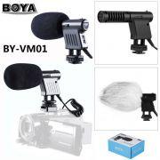 Microfone Shotgun de Sapata Câmeras DSLR ou Mirrorless Boya BY-VM01 Original