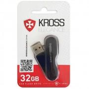 Pen Drive 32GB USB 2.0 Preto Kross Elegance KPMEM32GBRS