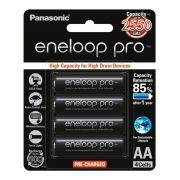 Pilha Recarregável Cartela com 4 Panasonic Eneloop Pro 2550mAh BK-3HCDE