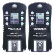 Radio Flash Yongnuo RF605C Par Com Telinha LCD Manual Sem TTL