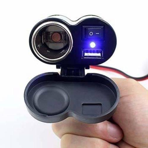 Adaptador Tomada USB Carregador Para Moto Knup KP-572