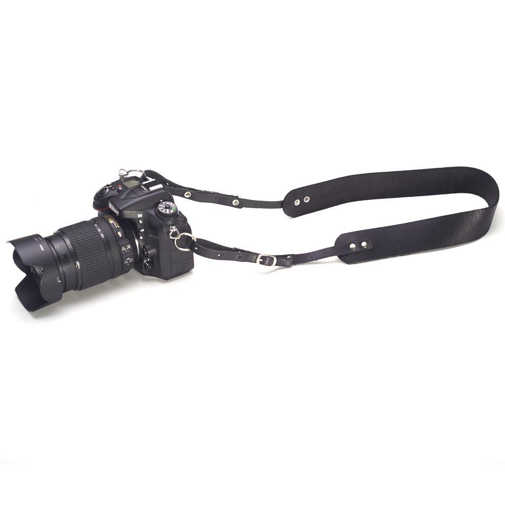 Alça para Câmera Fotográfica de Pendurar no Pescoço em Couro Genuíno