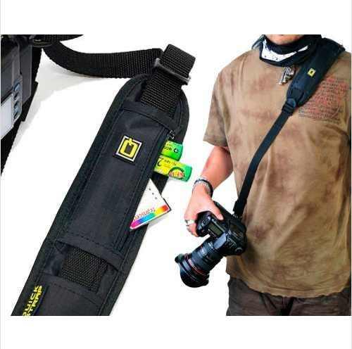 Alça Unilateral de Ombro Para Câmera Fotográfica em Nylon  Com Engate Rápido