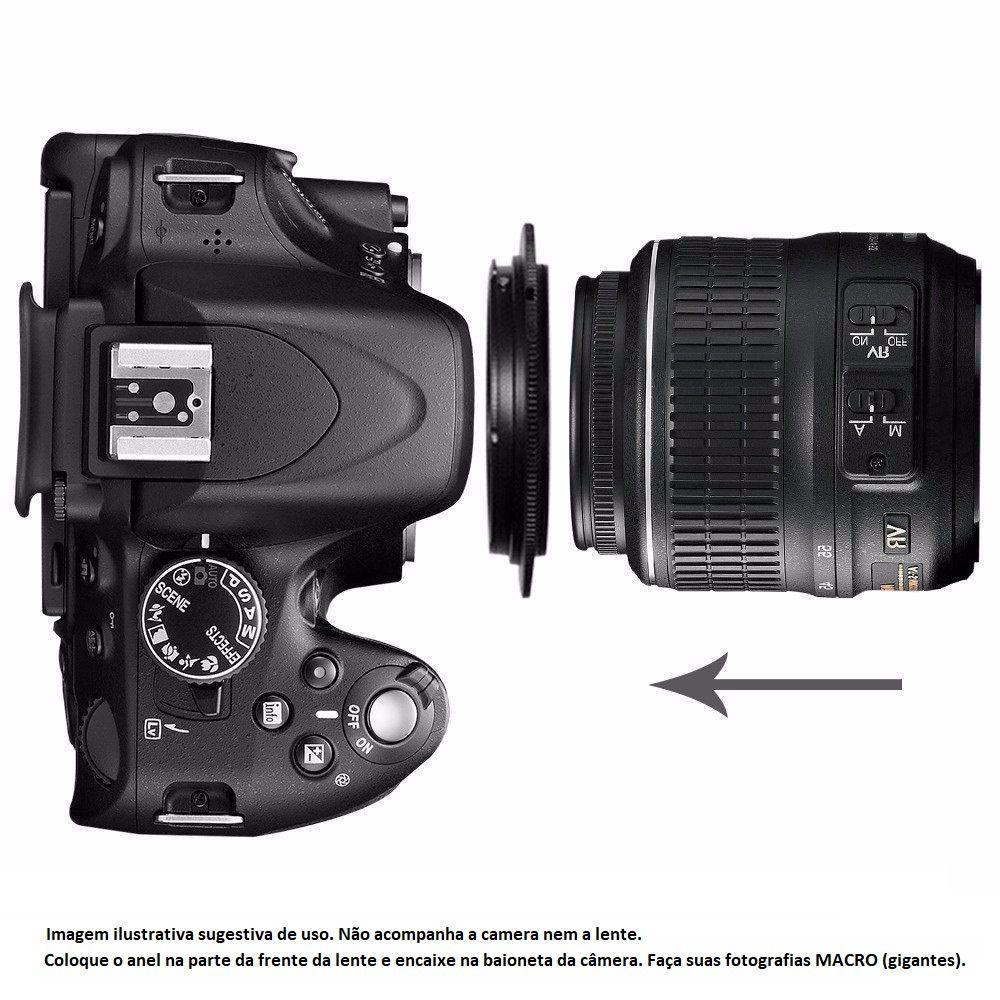Anel Inversor Para Macro Fotografia Modelo Canon