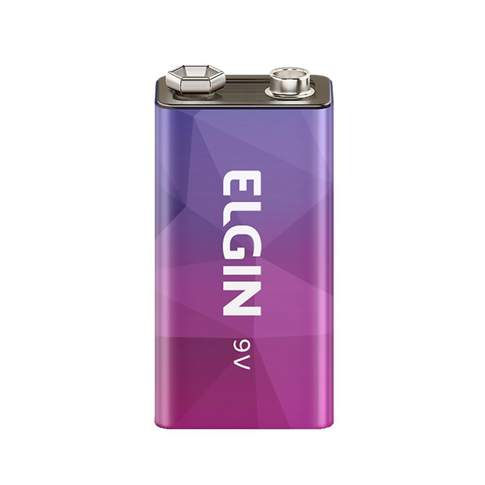Bateria 9v Recarregável Elgin Blister C/ 1 Unidade