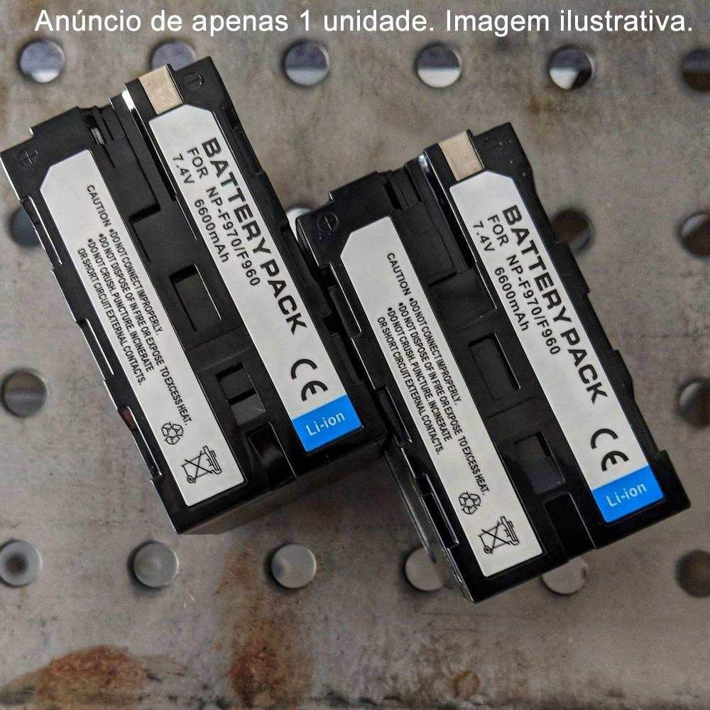 Bateria compatível c/ Sony NP-F960 NP-F970 genérica p/ Câmeras vídeo Painel de Led Ring Light, Etc