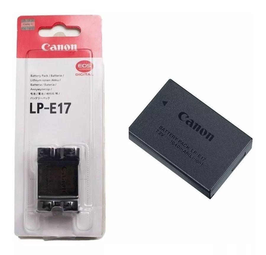 Bateria Original Canon LP-E17 Para T7i 800D T6i 750D T6s 760D SL3 250D SL2 200D 77D M3 M5 M6 RP