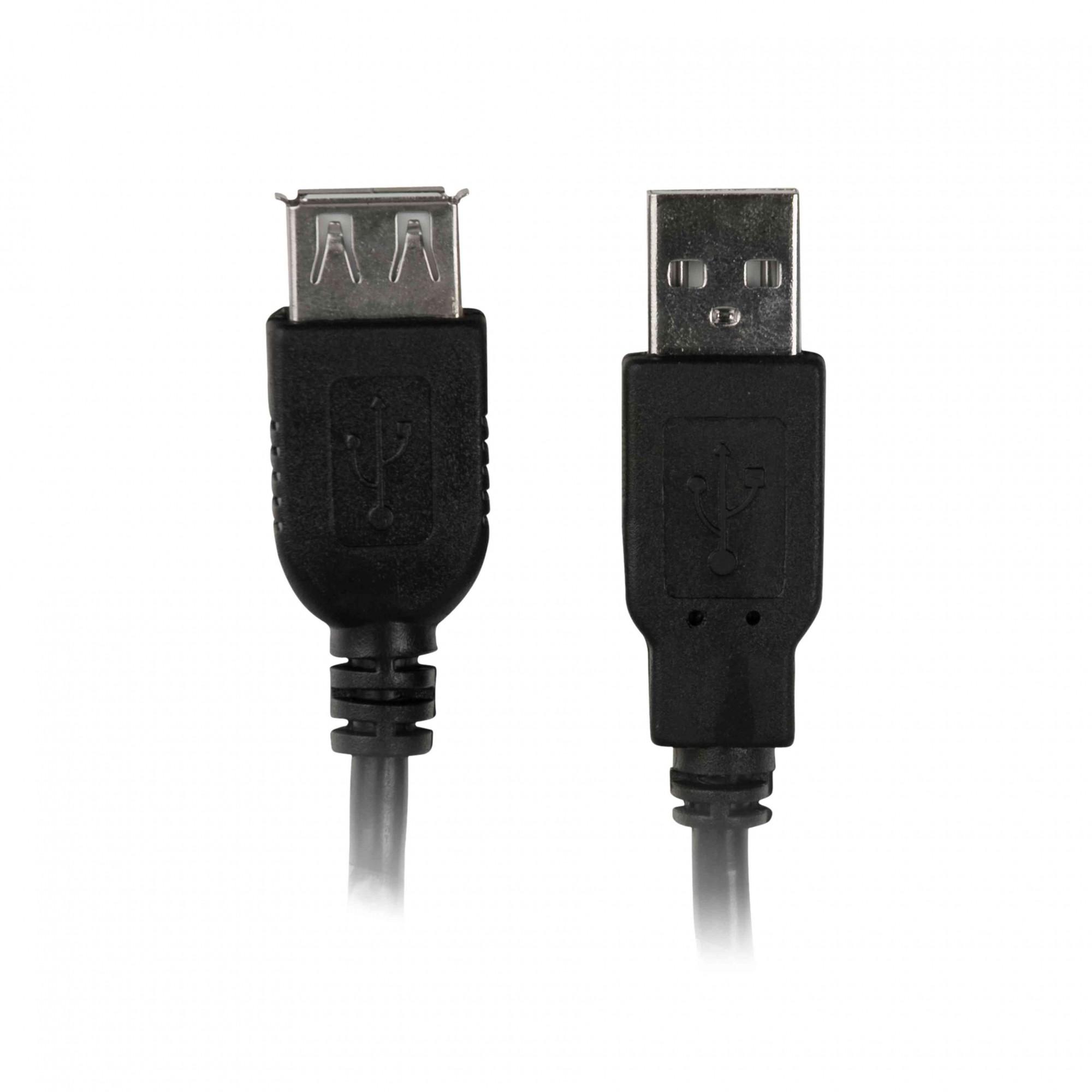 Cabo Extensão USB 2.0 Macho X Fêmea 5,0m Plus Cable PC-USB5002