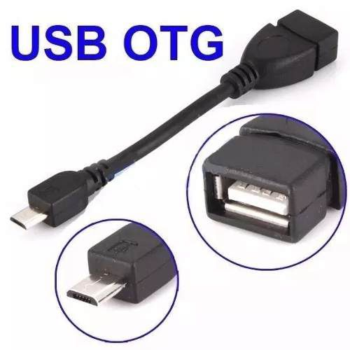 Cabo Otg Adaptador V8 Micro Usb x Usb conecte dispositivos USB no Celular