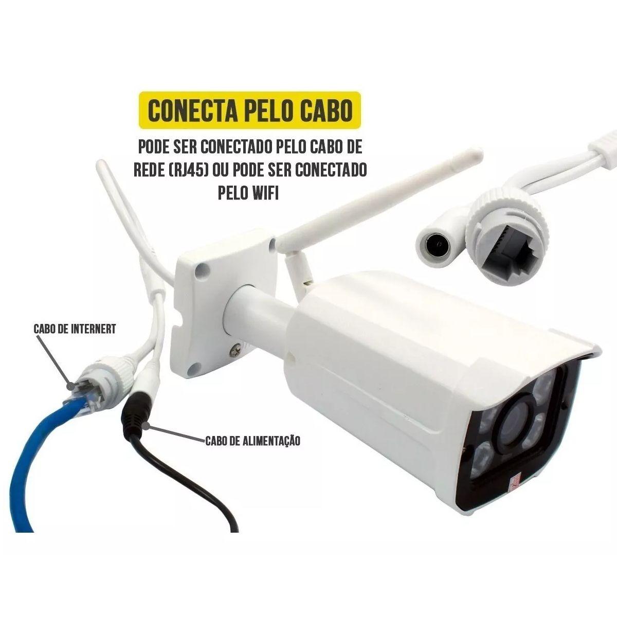 Câmera de Segurança IP CFTV / CCTV 2.0 mp C/ Infravermelho Bullet 1080P 3.6mm Jortan