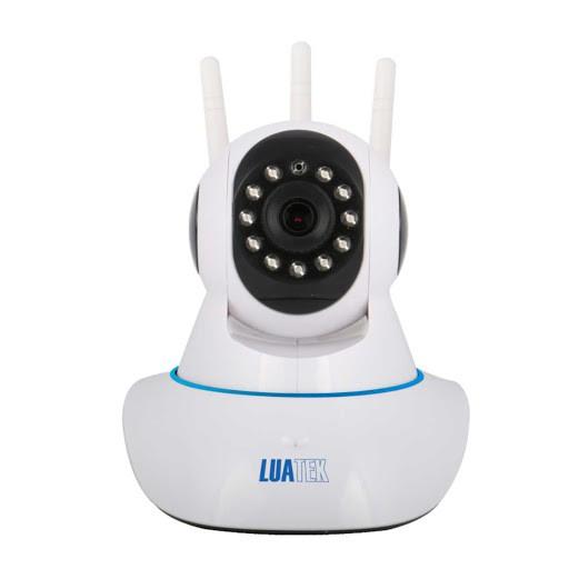Câmera de Seguranca IP Wireless Robozinho 3 Antenas AHD 720P Filma no Escuro Gira 360 graus Luatek LKW-1310VN