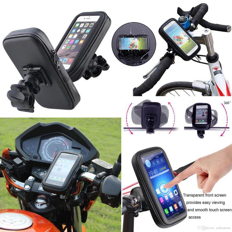 Capa de Smartphone Até 6,3 Polegadas Moto e Bicicleta Case Impermeável C/ zíper Suporte Guidão Tomate MTG-016B