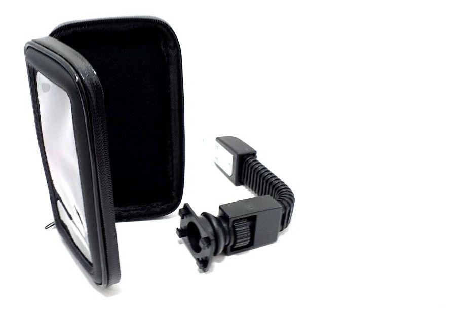 Capa de Smartphone até 6,3 Polegadas Suporte Para Retrovisor de Moto Case Impermeável C/ zíper SP-C23L