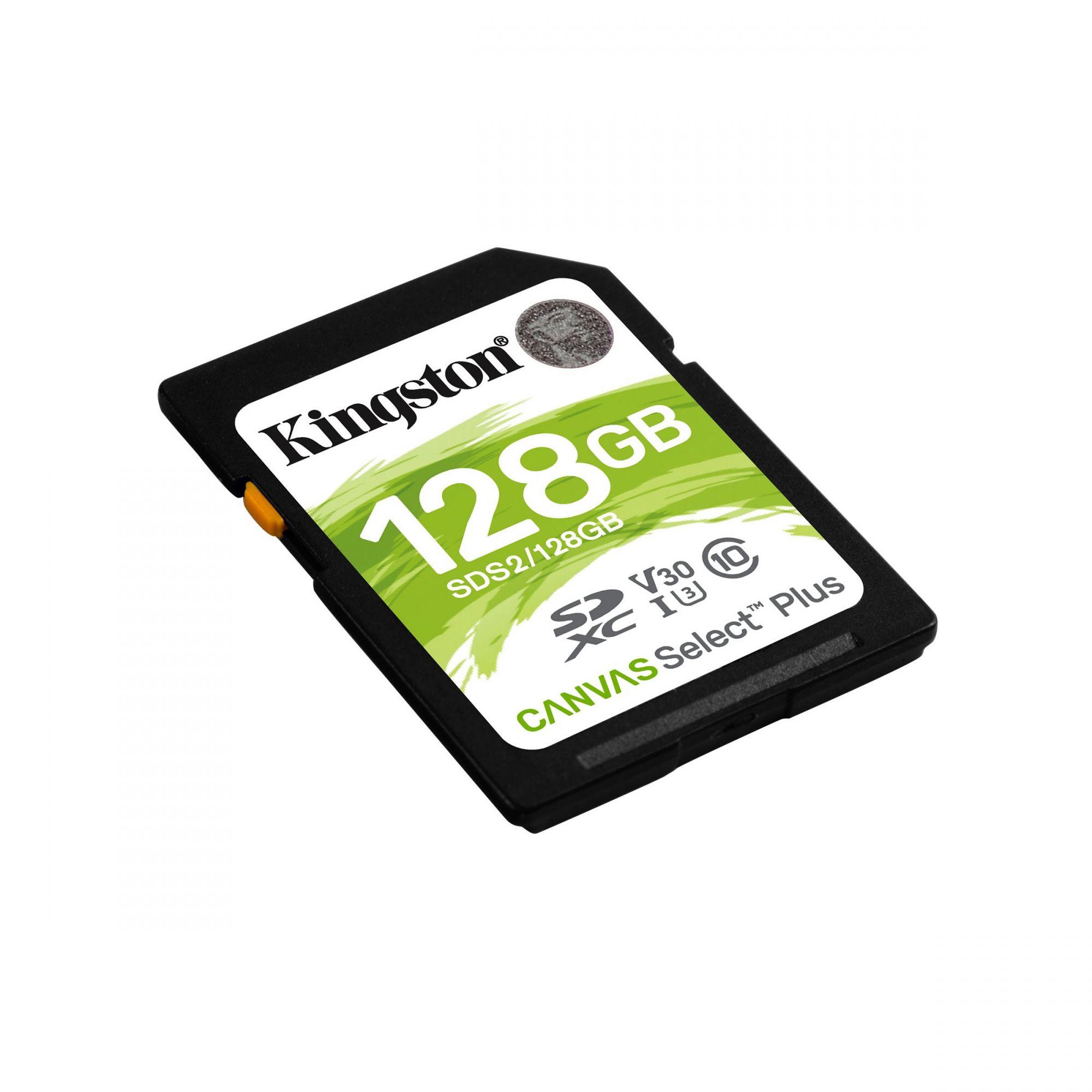 CARTAO DE MEMÓRIA SD 128GB CLASSE 10 SDS2/128GB SDXC 100MB/S KINGSTON CANVAS SELECT PLUS ORIGINAL