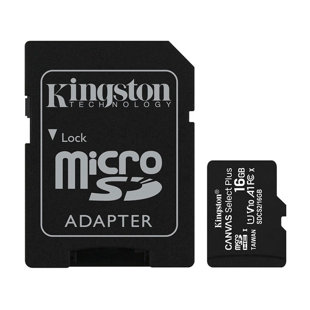 CARTAO DE MEMÓRIA MICRO SD 16GB CLASSE 10 SDCS2/16GB SDHC 100MB/S KINGSTON CANVAS SELECT PLUS ORIGINAL