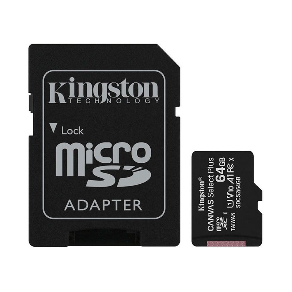CARTAO DE MEMÓRIA MICRO SD 64GB CLASSE 10 SDCS2/64GB SDXC 100MB/S KINGSTON CANVAS SELECT PLUS ORIGINAL
