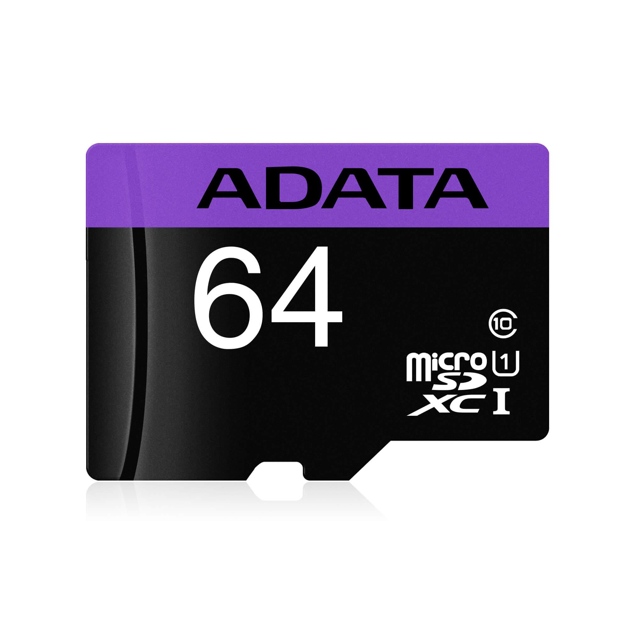 CARTAO DE MEMORIA MICRO SD ADATA CLASSE 10 64GB C/ ADAPTADOR
