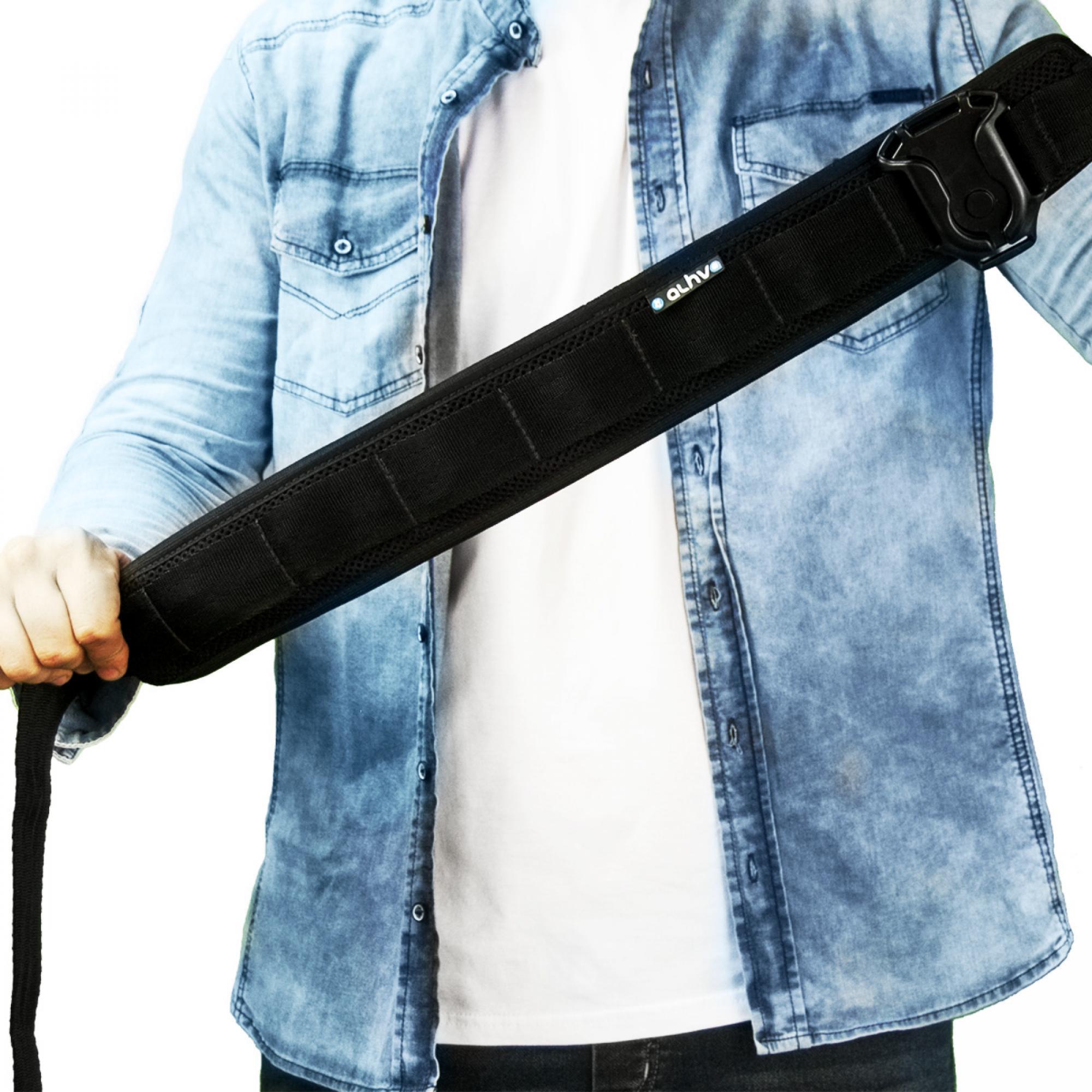 Cinto em Nylon e Neoprene Com Divisões Para Pendurar Porta Lentes Alhva Repórter Pro