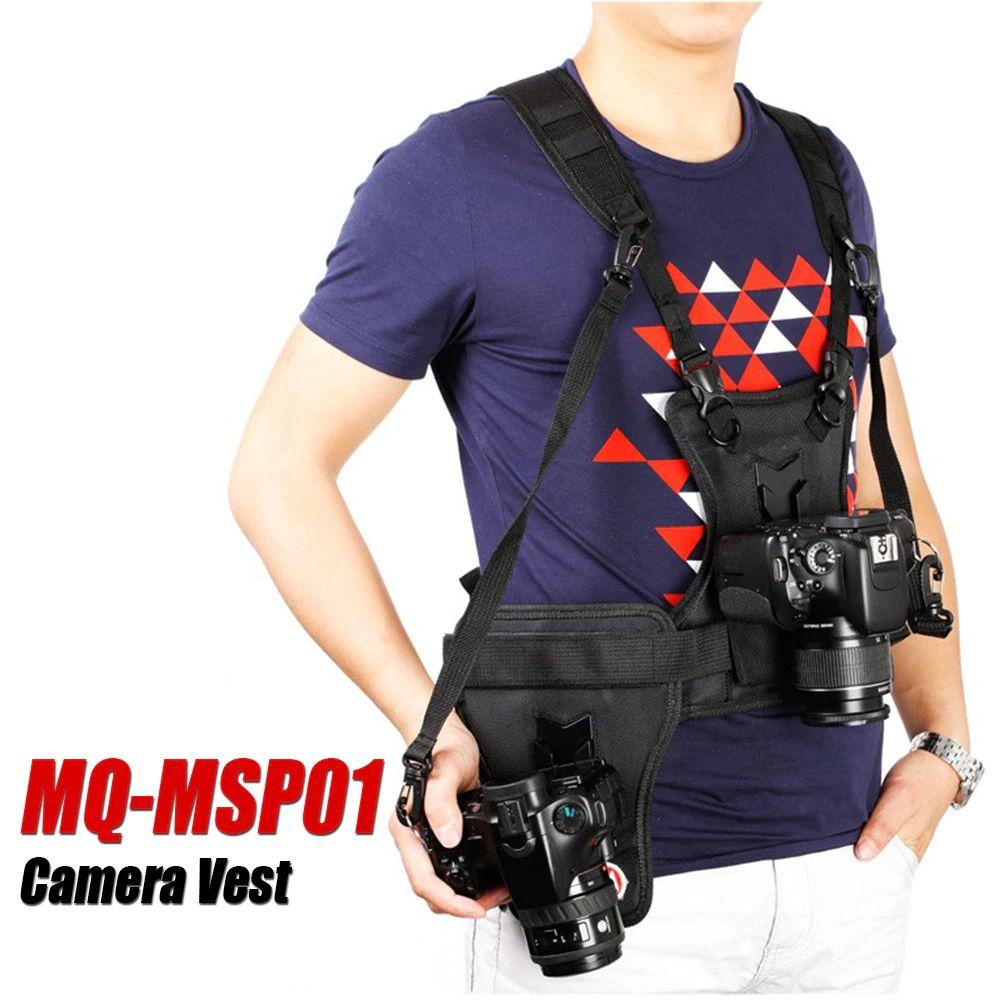 Colete Alça Cinto em Nylon P/ Fotógrafo com Suporte P/ Pendurar Câmera Peito e Lateral Micnova MQ-MSP01