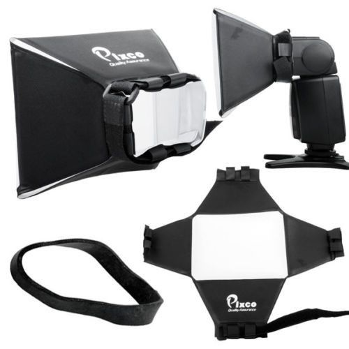 Difusor de Flash Mini Softbox Pixco 15 x 13 cm Luz Suave 15x13cm