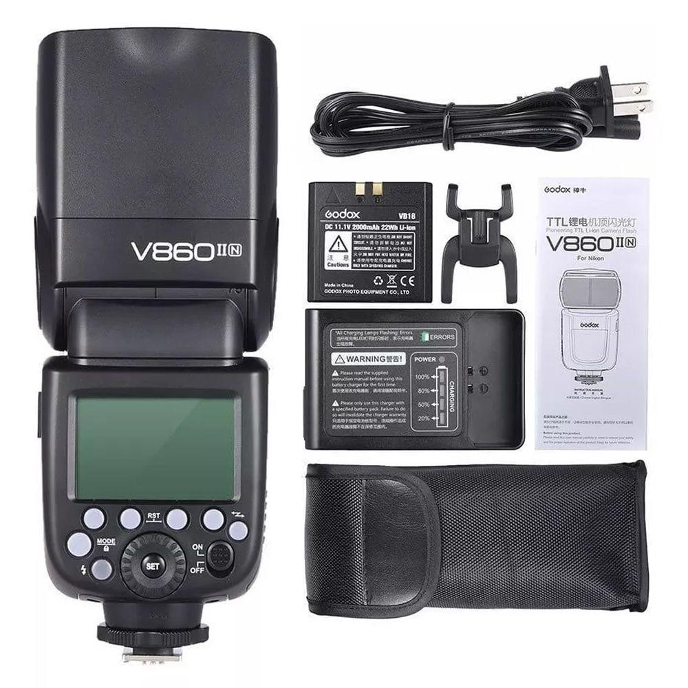 Flash TTL Godox TT350 HSS 2.4GHz para Nikon