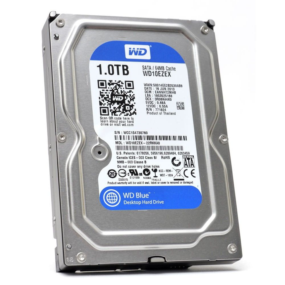 HD 1TB SATA 6GB/S WESTERN DIGITAL WD10EZEX 64MB 7200 RPM WD BLUE