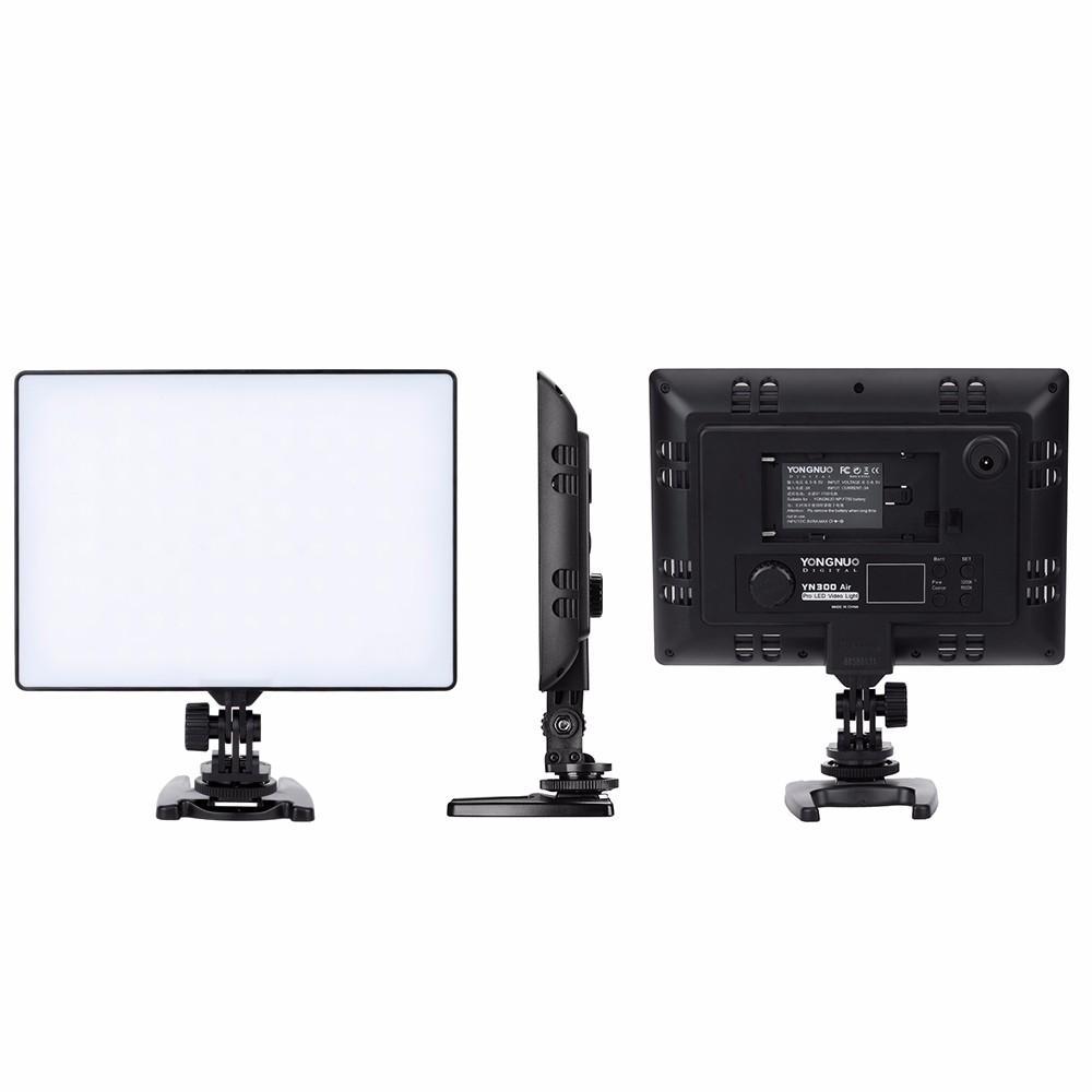 Iluminador LED Yongnuo YN300 AIR Original Ultra Fino Para Fotografia e Vídeo Painel Led + Fonte