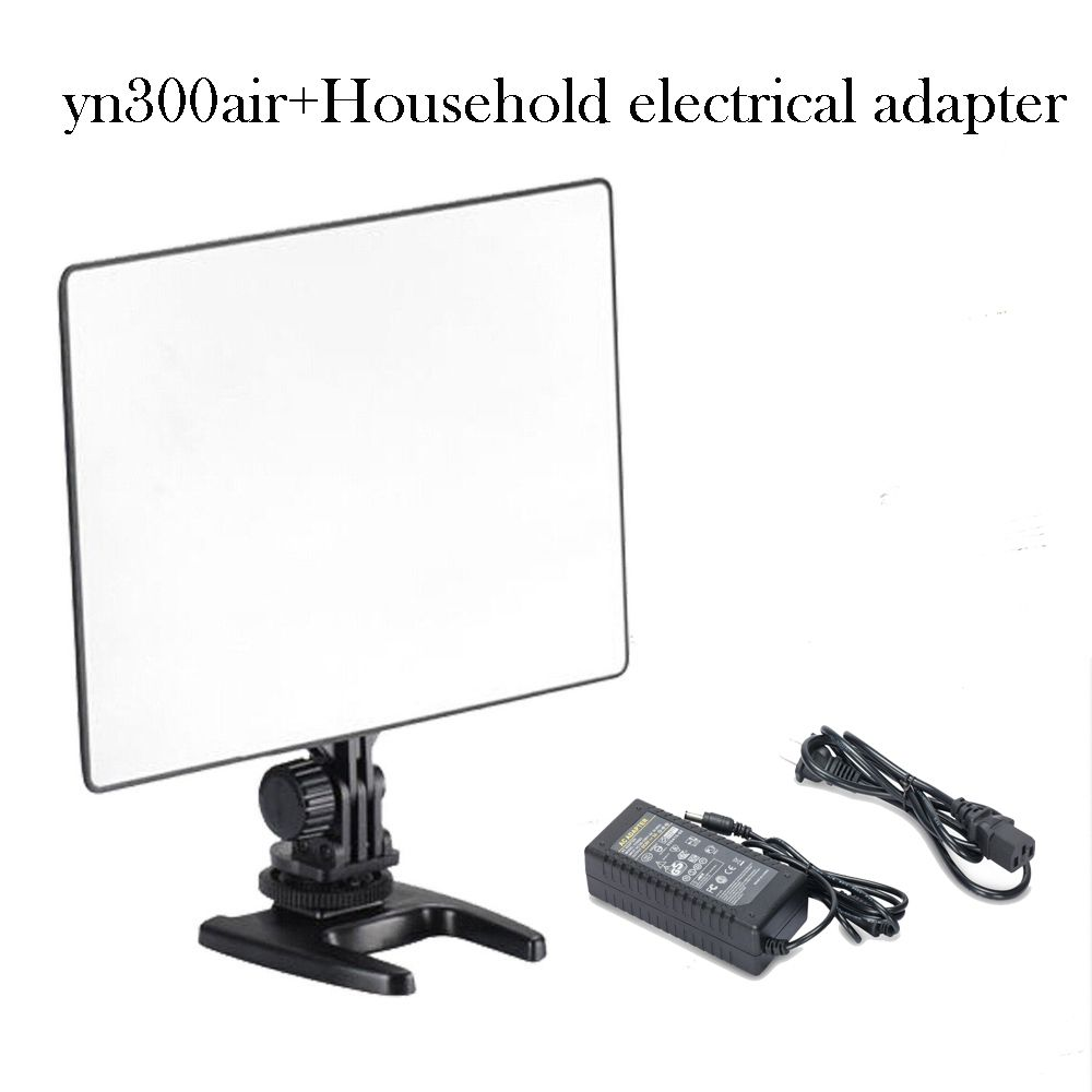 Iluminador LED Yongnuo YN300 AIR Original Ultra Fino Para Fotografia e Vídeo Painel Led + Fonte