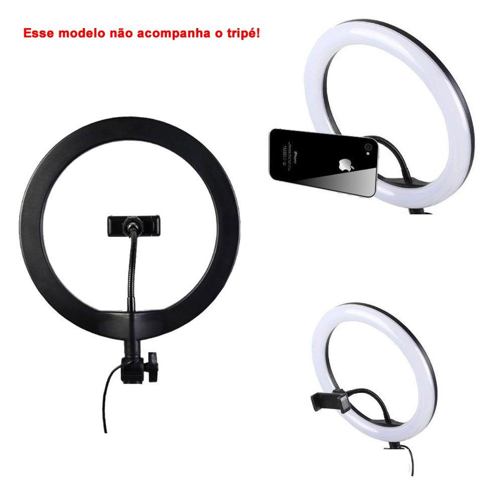 Iluminador Ring Light Foto Video 30cm 12 polegadas 162 Leds Com Dimmer 3200K a 5600K