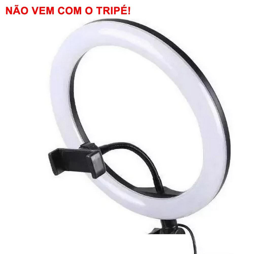 Iluminador Ring Light Foto Video 35cm 14 polegadas 332 Leds Com Dimmer 3200K a 5600K