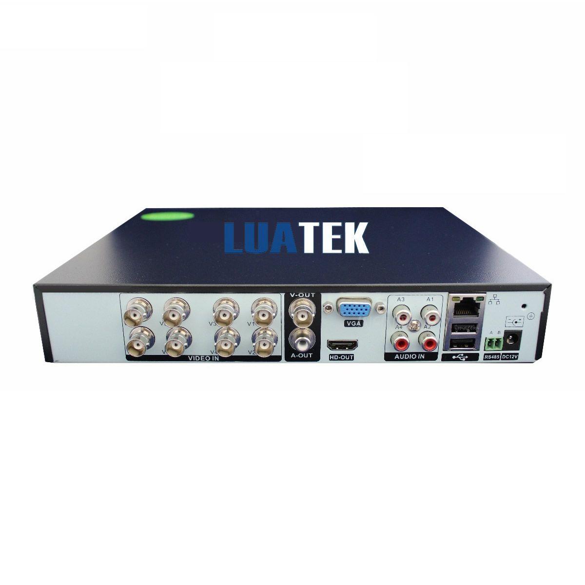 KIT 4 CÂMERAS DE SEGURANÇA BULLET HD 720P + DVR + CABOS LUATEK LKK-208