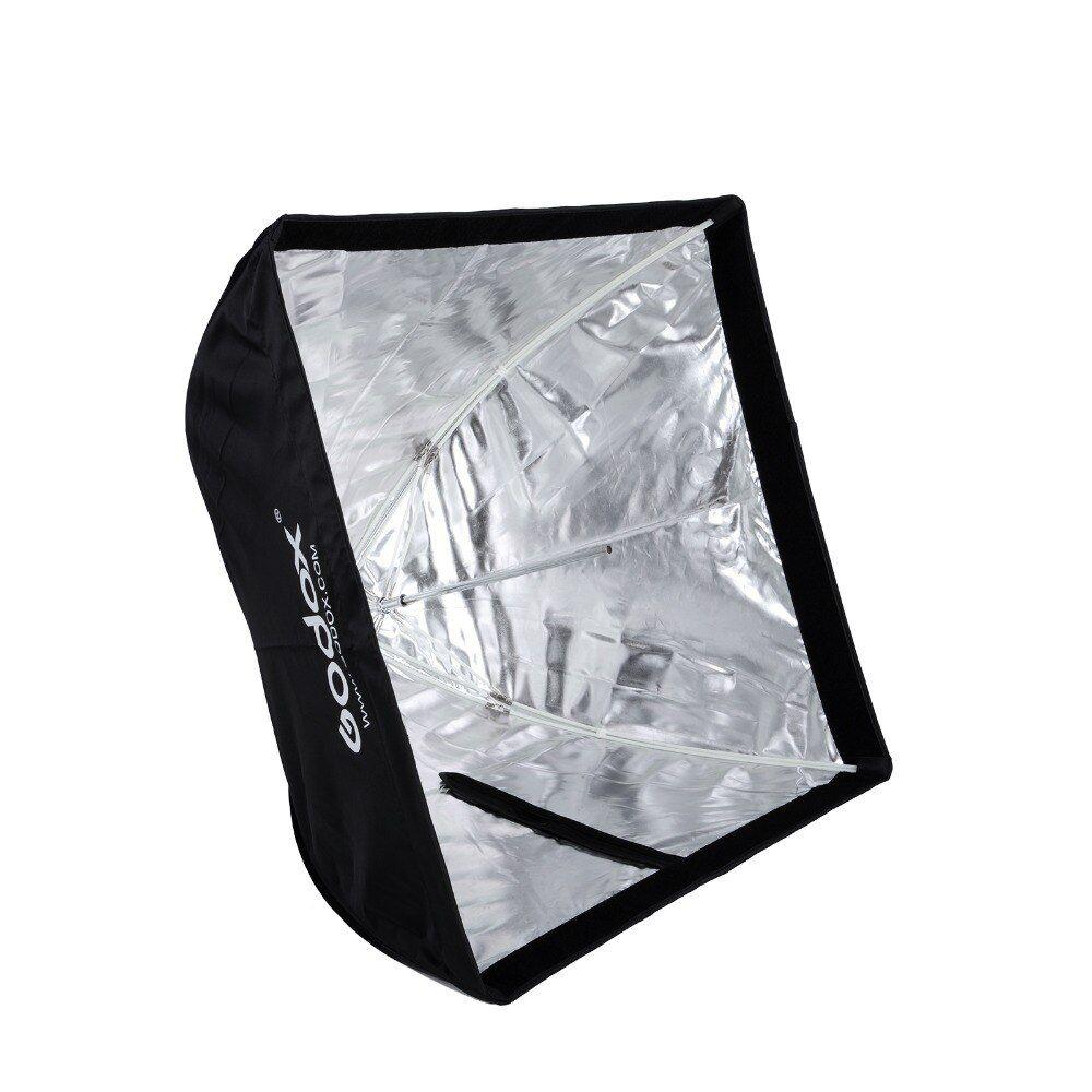 Kit Softbox 60 x 60 Godox + Tripé Altura até 1,80m + Suporte Metálico Para Flash
