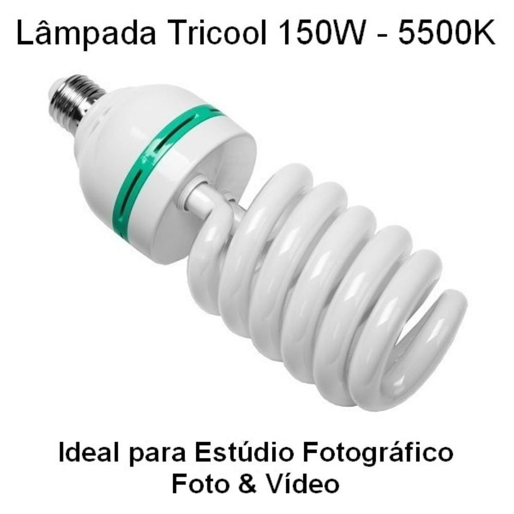 Lâmpada 150w 5500K Para Softbox Iluminação de Estúdio Fotográfico Luz Contínua 110V