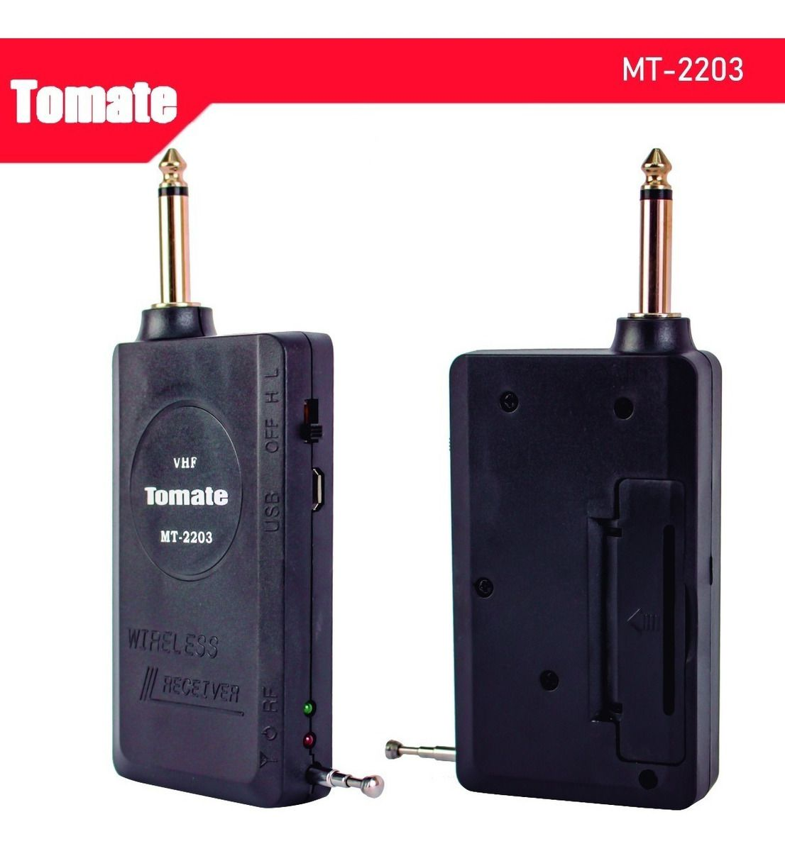 Microfone Sem Fio de Mão 234.7 MHZ Com Receptor Tomate MT-2203