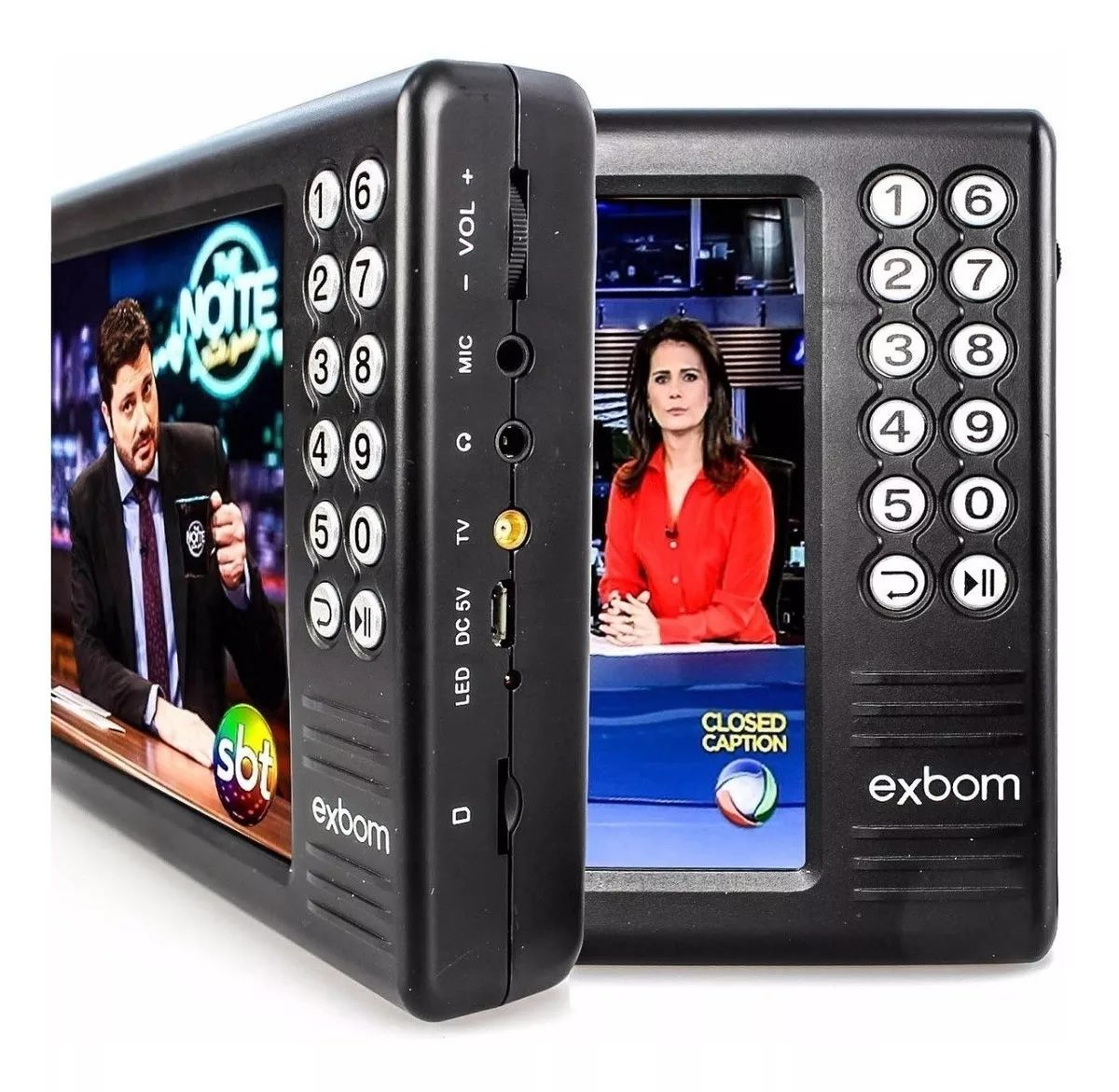 "Mini TV Digital multimídia Portátil 7"" ISDBT / FM / MP4 / TF e USB Pendrive"