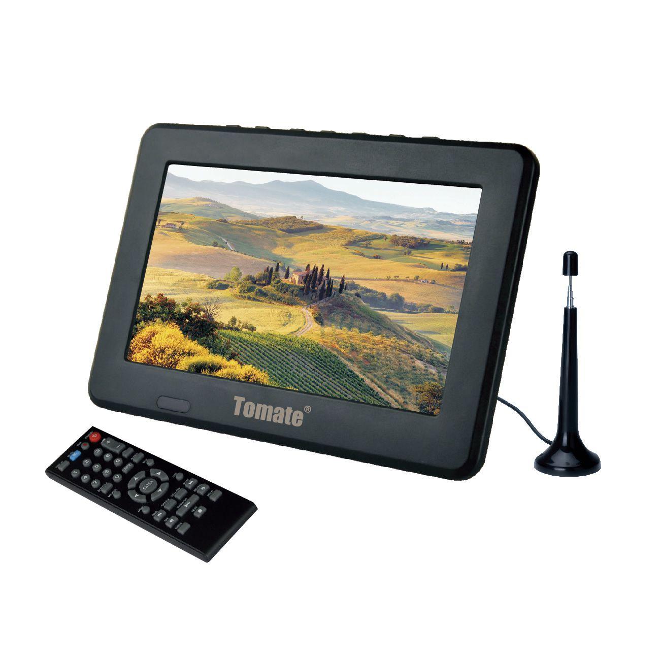 """Mini TV Monitor Digital Portátil 7"""" Polegadas c/ Controle Remoto e Rádio FM Lê Pen-Drives e Cartão de Memória"""