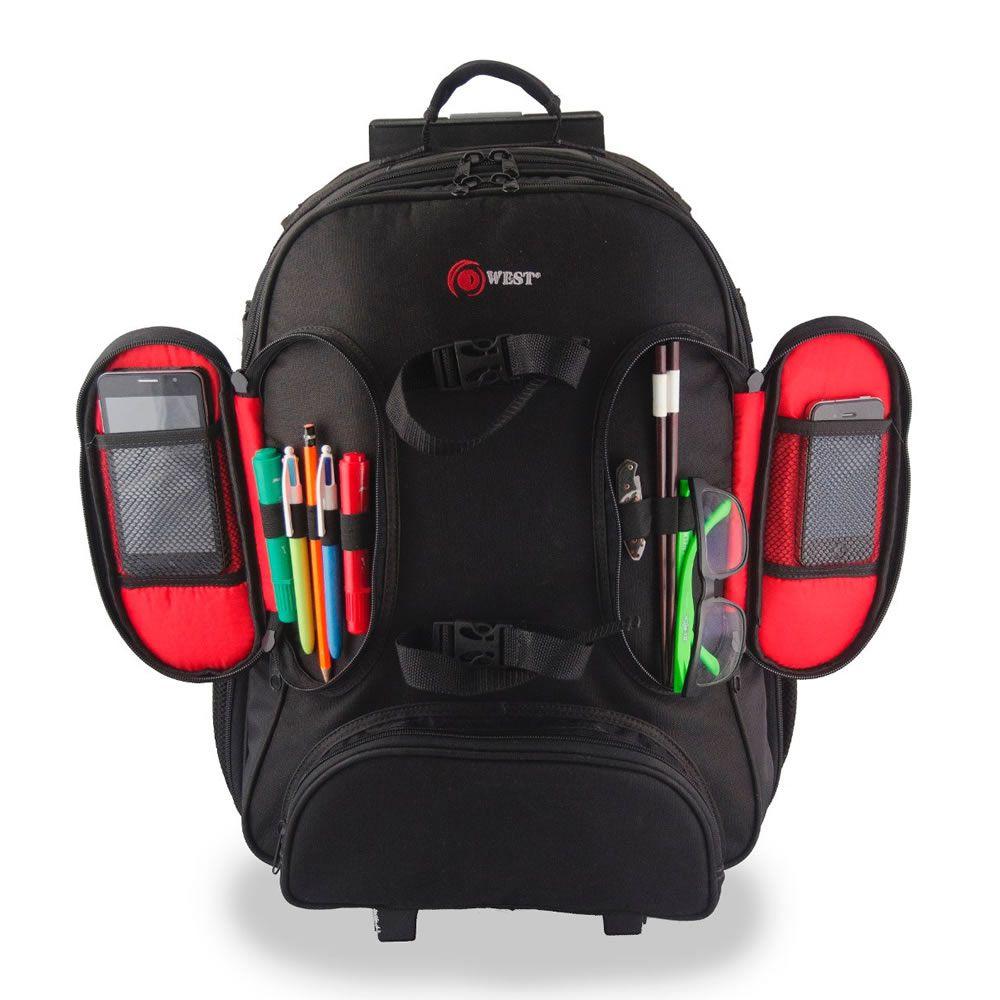 Mochila Bolsa Com Carrinho Para Câmera Fotográfica New Car Case Fotógrafos Câmeras e Lentes