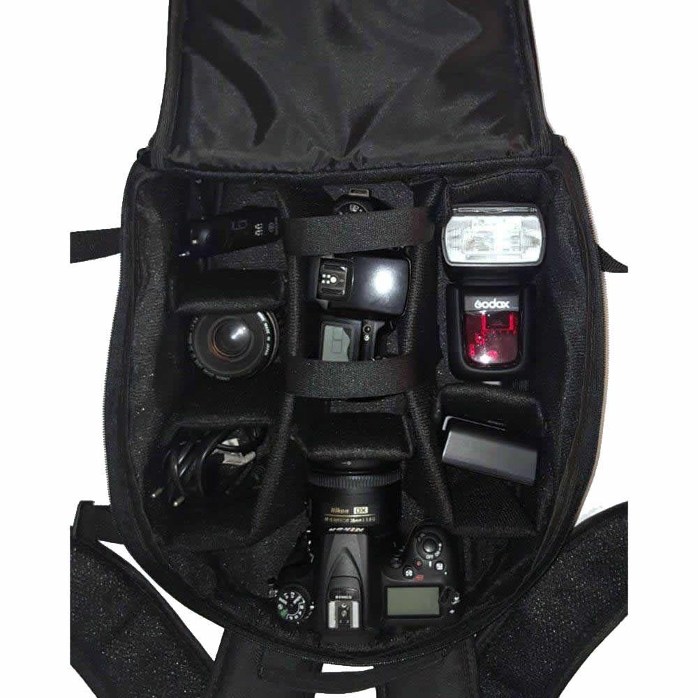 Mochila Bolsa P/ Câmera Fotográfica e Lentes Fotografia Fotógrafos Case Pop