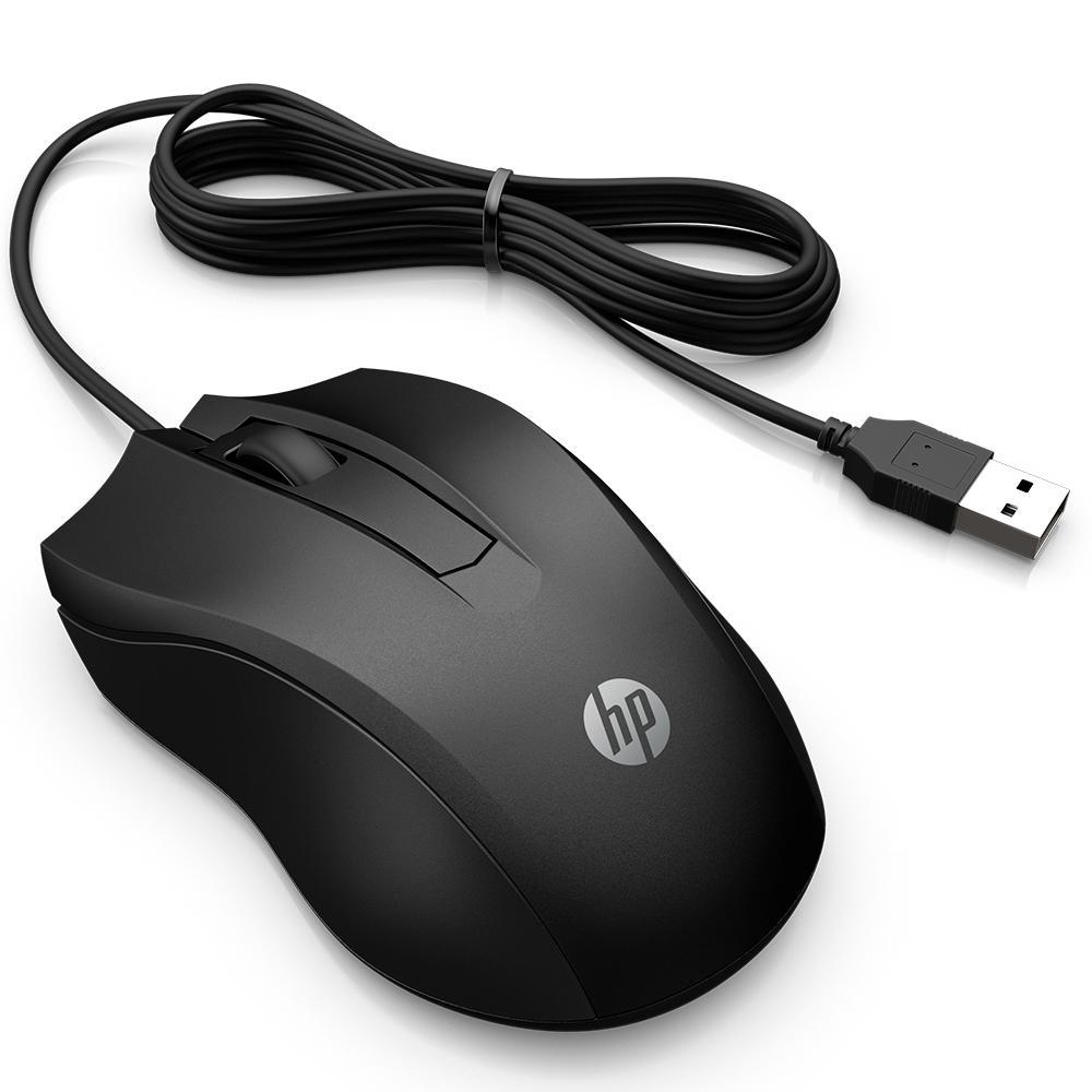 Mouse Com Fio 1600DPI USB HP PRETO 100
